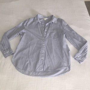 H&M - Striped Button Down Shirt - Size: 8